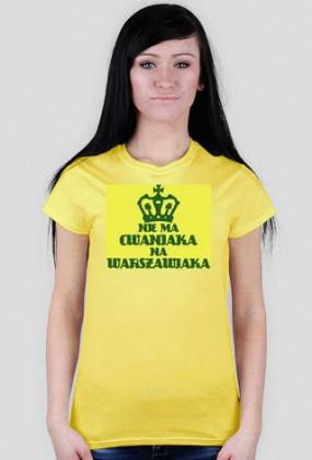 Nie ma Cwaniaka T-Shirt Yellow Women