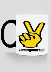 VCkubek - biały z czarnym uchem i środkiem ( stare logo )