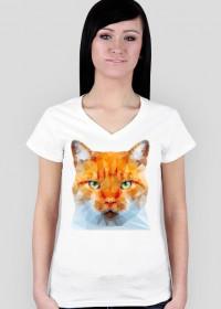 Kot na koszulce damskiej