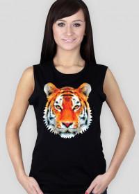 Tygrys low poly 2 koszulka damska