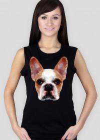 Buldog francuski koszulka damska