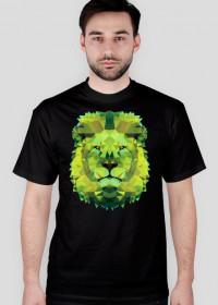 Zielony lew Low Poly koszulka męska