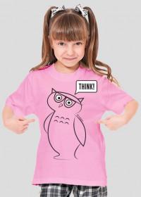 Koszulka dla dziewczyn Think!