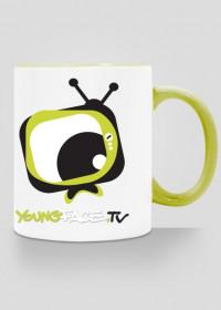 Kubek YoungFace.TV zielony