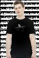 AeroStyle - męska czarna koszulka z samolotem 3d