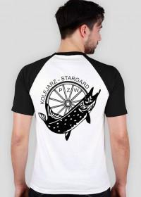 T-shirt kolorowy rękaw Kolejarz Stargard