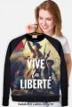 """Gruba bluza damska """"Vive la Liberte"""""""