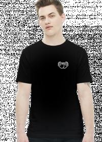 """Koszulka """"Znak gołębia na sercu"""" Czarna"""