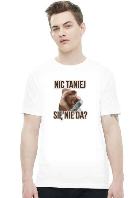 Nic taniej - biała męska koszulka