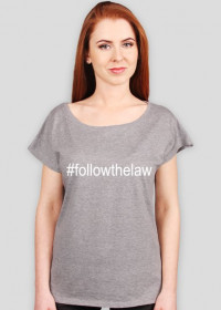 Koszulka szara oversize - #followthelaw