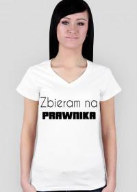 Koszulka damska biała - zbieram na prawnika