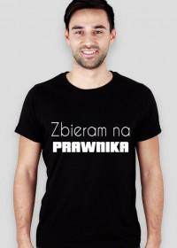 Koszulka męska czarna - Zbieram na prawnika