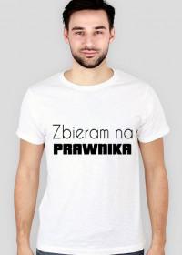 Koszulka męska biała - zbieram na prawnika