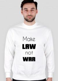 Bluza męska biała - Make law not war