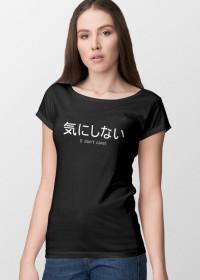 Kinishinai - Women's T-shirt with a japanese writing