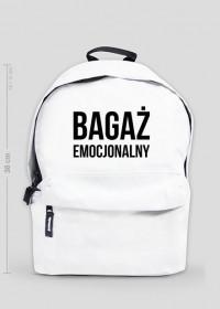 BAGAŻ EMOCJONALNY - plecak średni biały