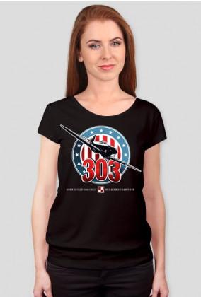 AeroStyle - damska czarna koszulka Spitfire 303