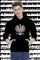 AeroStyle - bluza czarna, orzeł biały i szachownica lotnicza
