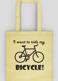 Torba I want to ride my bicycle