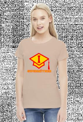 Prezent dla inżyniera - Super inżynier koszulka damska