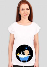 Zabawna koszulka dla ciężarnej
