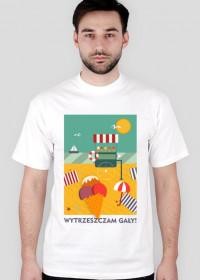 """Biała koszulka """"WYTRZESZCZAM GAŁY"""""""