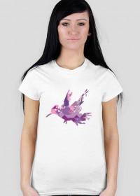 "Koszulka damska ""różowy ptaszek"""
