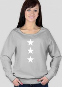 Damska bluza Made with love nadruk gwiazdy