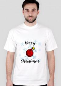 Koszulka Merry Christmas Bombka