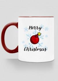 Kubek Merry Christmas Bombka kolorowy