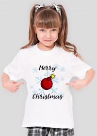 Koszulka Merry Christmas Bombka jasna