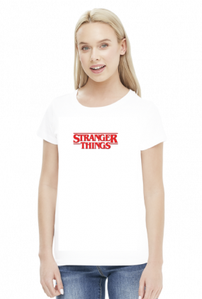 Koszulki damskie z nadrukiem Filmy i seriale Stranger things