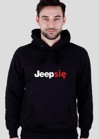 Jeep się_biały napis_bluza