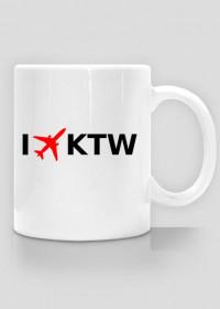Kubek I LOVE KTW - Katowice - Samoloty