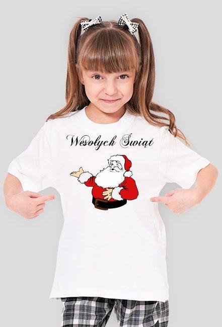 Koszulka dla Dziewczynki Świąteczna