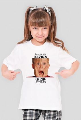 Koszulka dla Dziewczynki '' Święta bez Kevina to nie Święta''