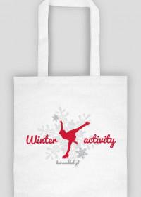 Eko torba biała -Winter activity