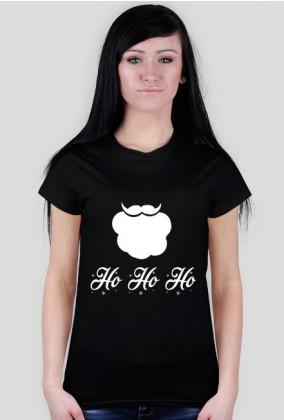 Broda mikołaja - damska koszulka świąteczna