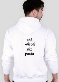 "BLUZA Z KAPTUREM MĘSKA ""205"" BIAŁA"