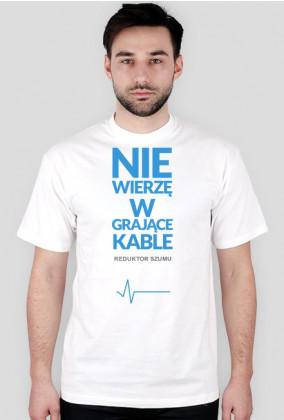 ReduktorSzumu koszulka grające kable biała
