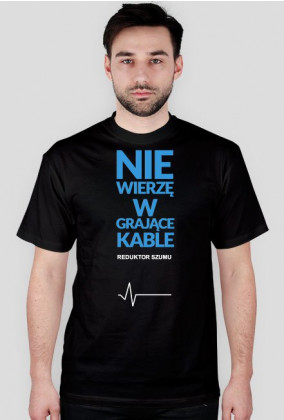 ReduktorSzumu koszulka grające kable czarna