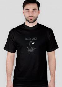 Z koteł najlepiej - koszulka męska czarna/granat
