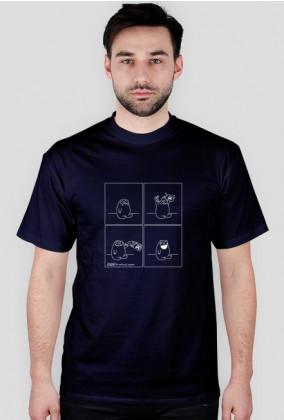 Szczęście - koszulka męska czarna/granat