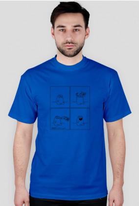 Szczęście - koszulka męska kolor