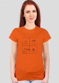 Szczęście - koszulka damska kolor