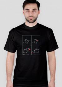 Serce - koszulka męska czarna