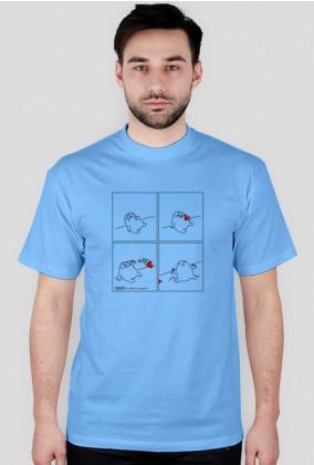 Serce - koszulka męska kolor