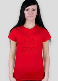 Serce - koszulka damska kolor