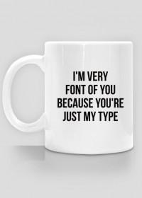 Kubek dla grafika komputerowego / Typografa - Typograficzny kubek