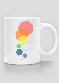 Kubek w kolorowe heksagony